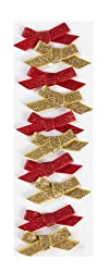 Martha Stewart Crafts Red and Gold Bow Stickers