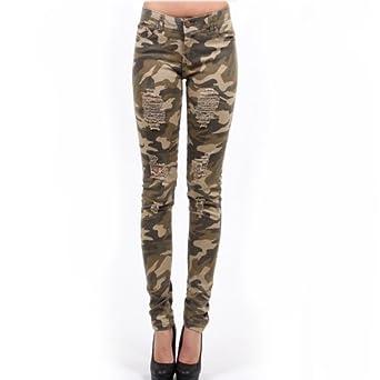 Luxury Women39s Camo Print Skinny Jeans SCL201A  GStyleUSAcom
