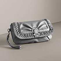 ELLETM Adrienne Gathered Wristlet (Silver)