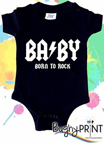BODY tutina bimbo neonato AC DC 12 mesi