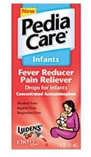 PediaCare Fever Reducer Pain Reliever Drops for Infants for Cough, Cold or Allergy