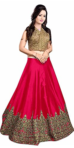 Aracruz-Womens-Cotton-Silk-Embroidered-Lehenga-CholiRed-Kayamat-LehengaRedFree-Size