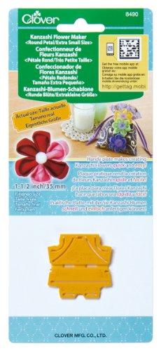 Clover 8490 Kanzashi Flower Maker Round Petal Quilt Pattern, X-Small