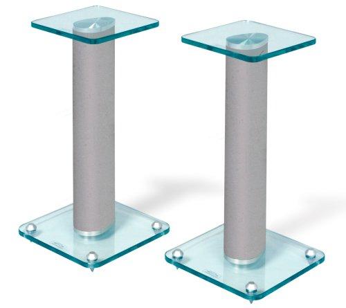 Techlink AVATAR TLSA1S Speaker Stands Silver Pair - Max Weight 30Kg