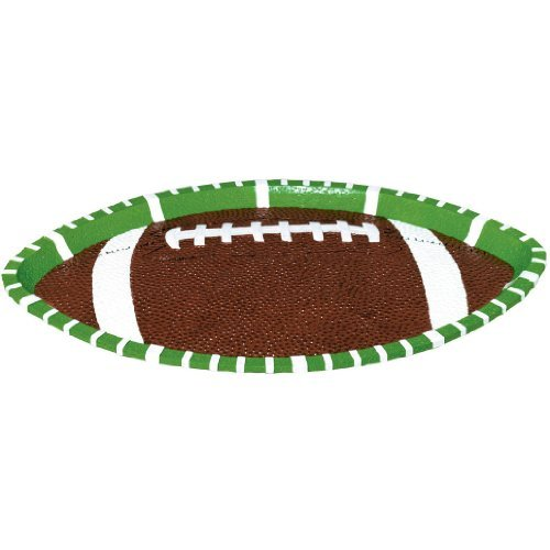 Football Large Oval Platter by Party America kaufen