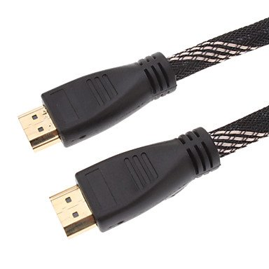 Av Cable - Hdmi 1.4 Cable For Smart Led Hdtv, Apple Tv, Blu-Ray Dvd, Xbox 360 And More (1.8 M, Black&Yellow)