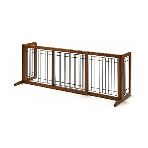 Richell-94135-Freestanding-Pet-Gate-with-Autumn-Matte-Finish-Small