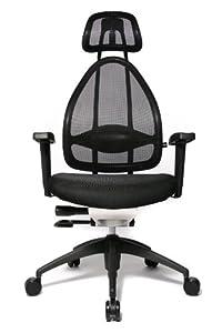 Topstar Open Art 2010 OPA0TB900 Bürodrehstuhl mit Armlehnen / Sitz schwarz / Rückenlehne und Kopfstütze schwarz