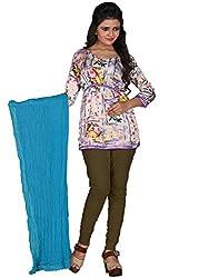 Khushali Prerents Stylish and Versatile Cotton Women's Dupatta(Sky Blue)