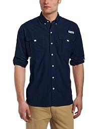 Columbia Men\'s Bahama II Long Sleeve Shirt, Large, Collegiate Navy
