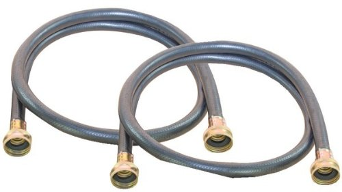 Petra X1109-4Ff-Tp Black Rubber Washing Machine Hose, 4-Foot, 2-Pack front-537943