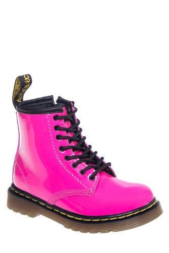 Dr. Martens Toddlers' Brooklee Patent Lamper Combat Boot