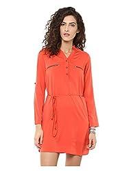 Yepme Women's Orange Polyester Dresses - YPMDRES0205_M