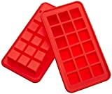 Casabella Silicone True Cube Ice Cube Tray, Set Of 2