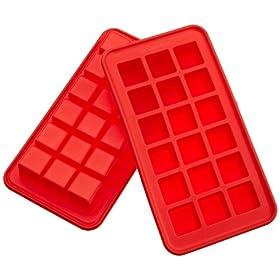 Casabella Silicone True Cube Ice Cube Tray, Set Of 2