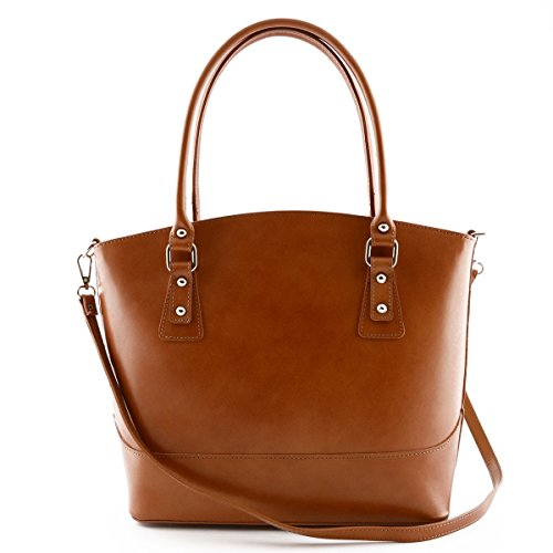 Borsa A Tracolla In Pelle Colore Miele - Pelletteria Toscana Made In Italy - Borsa Donna