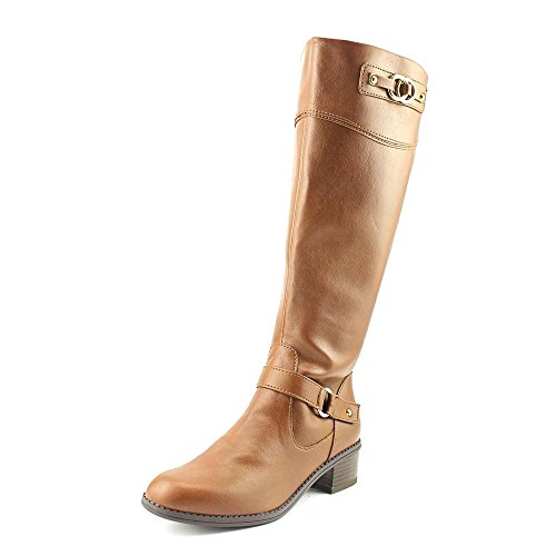 Karen Scott Delano Womens Size 7 Brown Faux Leather Fashion Knee-High Boots