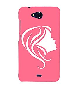 Face Illustration 3D Hard Polycarbonate Designer Back Case Cover for Micromax Canvas Play Q355