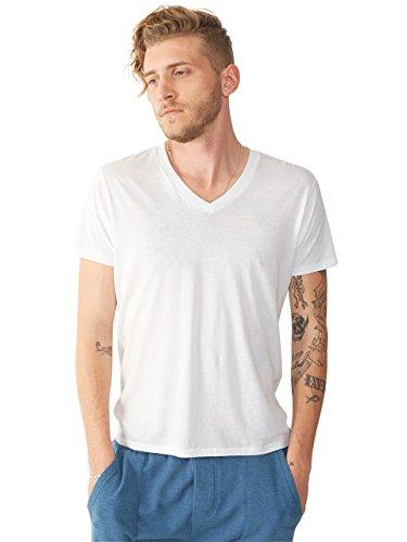 Alternative Men's Perfect V Neck T-Shirt, White, Large (Alternative Perfect V Neck compare prices)