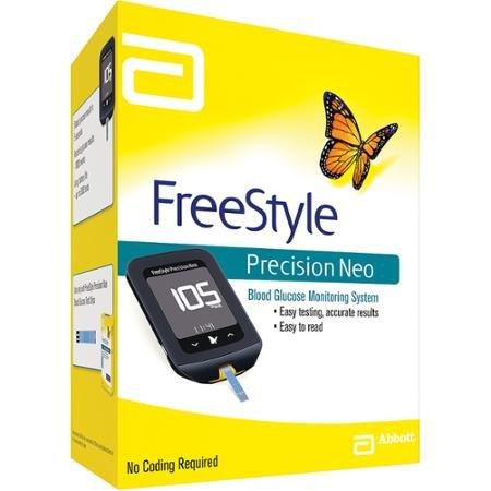 Freestyle Precision Neo Glucose meter. Suitable for MEDISENSE ketones and glucose test strips