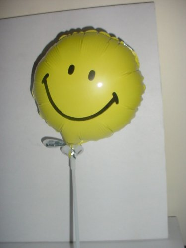 "9"" Gelber Runder Smiley Gesicht Mini Folie Ballon (M82)"