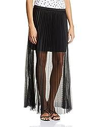 UCB Women's Pleated Skirt (15P3ML1P0094_100-Black_24)