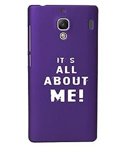 KolorEdge Back Cover For Xiaomi Redmi 1S - Purple (1993-Ke15141Redmi1SPurple3D)