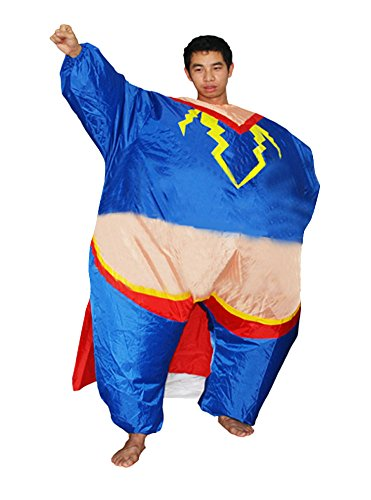 Ace Halloween Adult Men's Inflatable Suit Superman Costumes