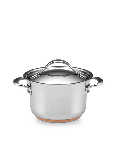 Anolon Nouvelle Copper Stainless Steel 3.5-Quart Covered Saucepot