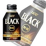 UCC BLACK無糖 プレミアムアロマ リキャップ缶275g×24本入