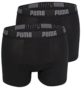 BASE Boxer Boxer Short Puma slip 4-pack en plusieurs couleurs - Large, Black - schwarz/schwarz/schwarz/schwarz