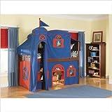 Bolton Furniture 9921600LT5BR / 9921600LT6BR Set Mission Low Loft Tent Bed  ....