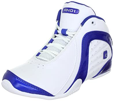 AND 1 Men's Rocket 2 Basketball Shoe,White/White/Royal,10.5 D US