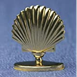 Superior Dollhouse Miniatures Dollhouse SHELL TABLE LAMP, GOLD-SMALL