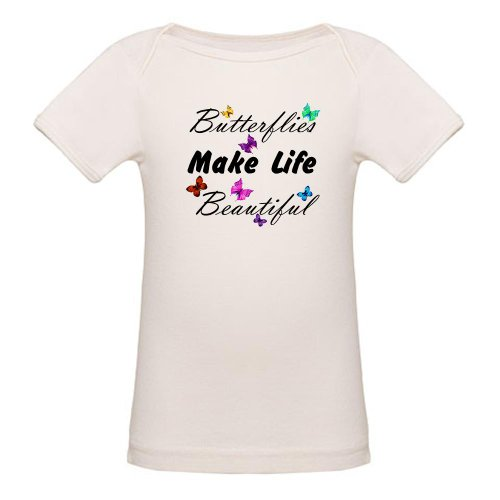 Artsmith, Inc. Organic Baby T-Shirt Butterflies Make Life - 3 to 6 Months