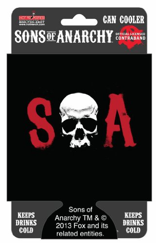 Sons of Anarchy Can and Bottle Koozie Cooler SOA Skull