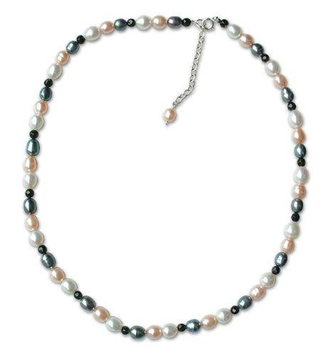 Pearl and agate strand necklace, 'Subtle Glow' 0.2