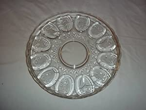 Colony Crafts Crystal Garden Egg Relish Server 12 Inches
