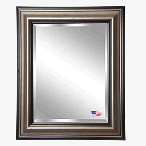 American Made Rayne Antique Silver Beveled Wall Mirror, 21.5 X 25.5 front-337992