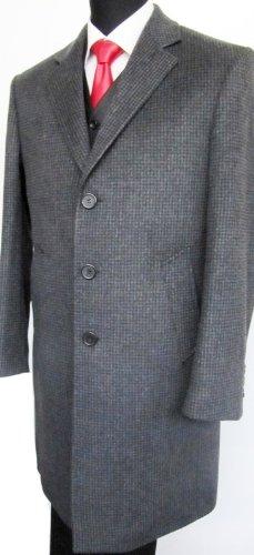 MUGA mens Casmere Long Coat, Grey, Size 54R (EU 64)
