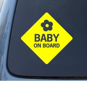 BABY ON BOARD - Child Warning - Car, Truck, Notebook, Vinyl Decal Sticker #1100 | Vinyl Color: Yellow