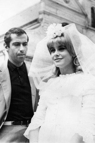 catherine-deneuve-in-le-vice-et-la-vertu-in-wedding-dress-with-director-roger-vadim-1963-24x36-poste