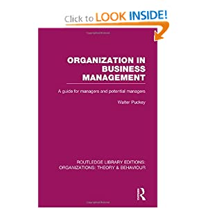 Download book Organization in Business Management (RLE: Organizations)