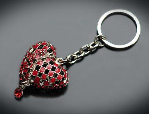 Schlüsselanhänger Herz 3D mit Inspiration von Swarovski Kristallen, Q114105