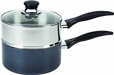 T-fal A90996 Specialty Stainless Steel Double Boiler with Phenolic Handle Cookware