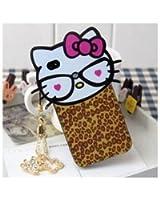 SODIAL(TM) ?tui/Bo?tier/Coque de protection carton Hello Kitty Tšºte large pour iPhone4/iPhone4S