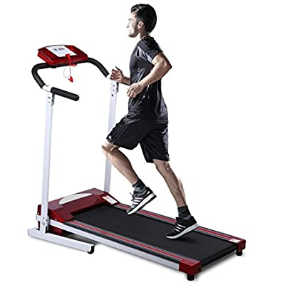 Ancheer Running Folding Treadmill Exercise Machine Cardio Fitness Electric Red