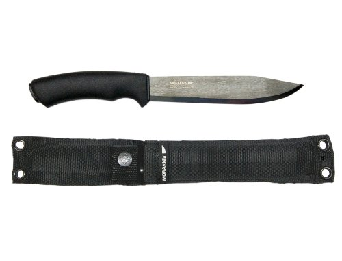 Morakniv Bushcraft Pathfinder Knife with 6.75-Inch Sandvik Carbon Steel Blade and Heavy Duty MOLLE-Compatible Sheath     Mora