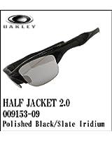 【日本仕様モデル】OAKLEY【オークリー】サングラス HALF JACKET2.0 【ハーフジャケット2.0 アジアンフィット】POLISHED BLACK/SLATE IRIDIUM OO9153-09