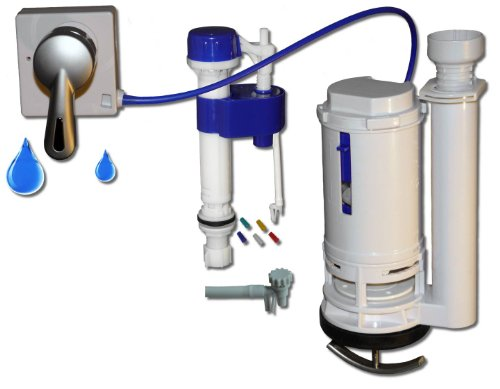 One2flush Dual Flush Toilet Converter Kit FOR ONE PIECE TOILETS with the